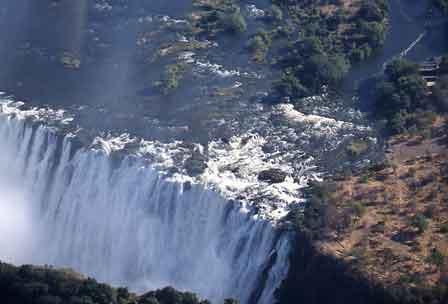 Victoria Falls set fra helikopter