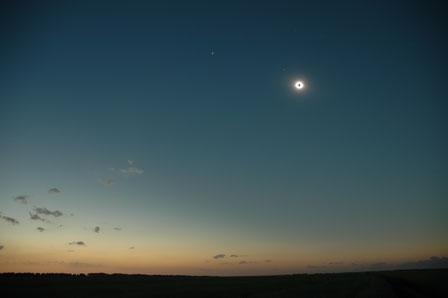 Total solformørkelse, Cherepanovo, Sibirien
