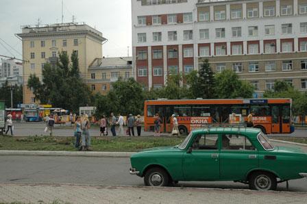 Barnaul, en by i Sibirien, Rusland
