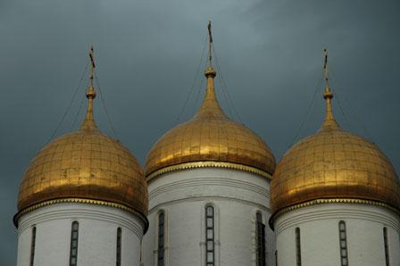 Kuplerne på Assumption Cathedral