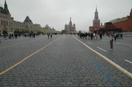 Den røde Plads med St. Basil's kathedralen i baggrunden