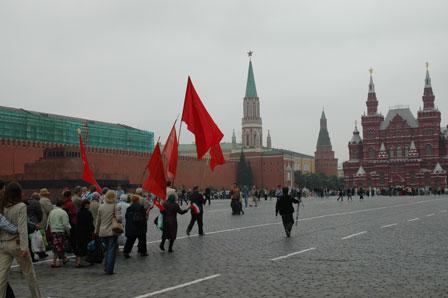 Demonstranter ønsker kommunismen tilbage..