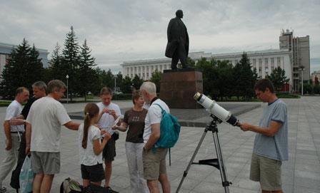 Lenin pladsen, Barnaul, Sibirien