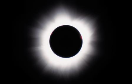 Total solformørkelse - her fra Zimbabwe i 2001.