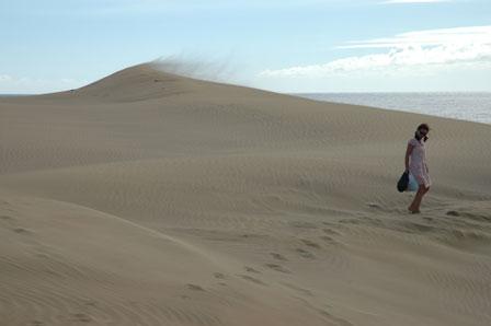Det tager et sandkorn 500 år at passerer gennem klitten