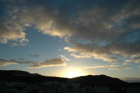 Solen står op over Puerto Rico