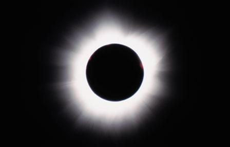 Total solformørkelse - her fra Zimbabwe 2001