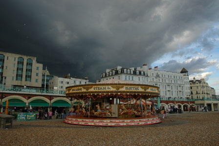 Merry-go-round, Brighton, England, juli 2008