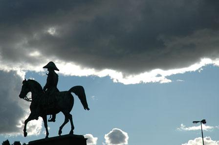 Karl Johan til hest, Stockholm, Sverige, september, 2007