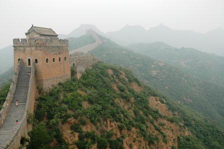 Muren forsvinder i det uendelige..