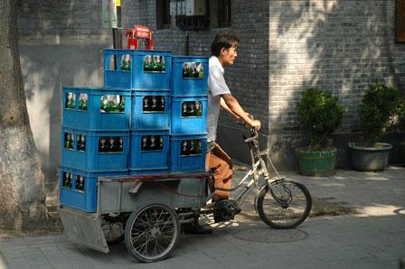 11 kasser øl på én cykel