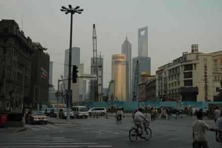 Shanghai skyline, set fra The Bund
