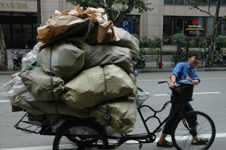 Fuldt læs i Shanghai.