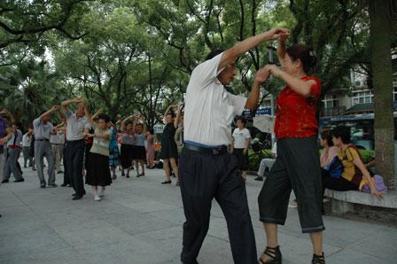 Vild med dans i Guilin