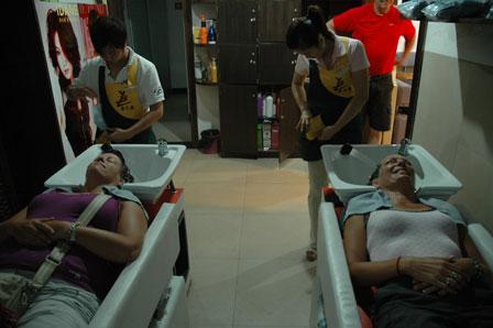 Pigerne er nået til 4. hårdvask i Guilin