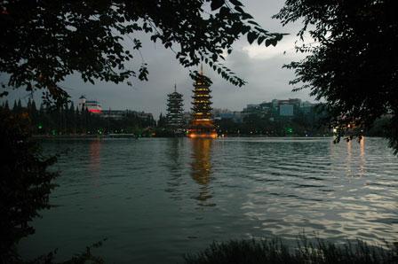 Guilin i regnvejr