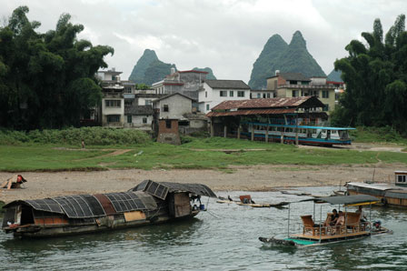 Landsby ved Li River.