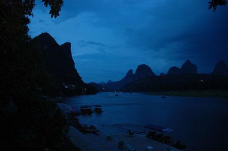 Aftenstemning ved Li River